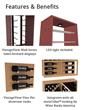 Introducing CellarVue™ Wine Storage Racks - Wood & Metal   infused