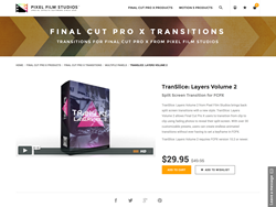 Final Cut Pro X Plugin - TranSlice Layers Volume 2 - Pixel Film Studios