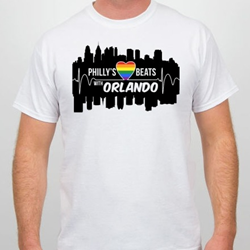 Philly's Heart Beats with Orlando Fundraising T-Shirt available on SpreadSpirit.com