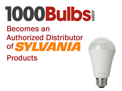 1000bulbscom becomes an authorized distributor of SYLVANIA products.
