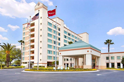 Exterior of Ramada Kissimmee Gateway hotel.