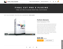 FCPX - ProFont Elements - Pixel Film Studios Plugin