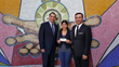 Servando Ornelas, LEF Chair; Fabiola Hernandez, LEF Scholarship recipient; and Heberto M. Sanchez
