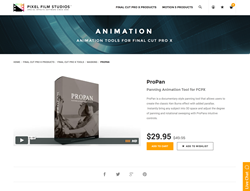 Pixel Film Studios Plugin - ProPan - FCPX