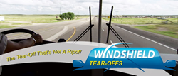 Windshield Tear-Off is an automobile invention that will be of great use to any commercial trucker or vehicle owner