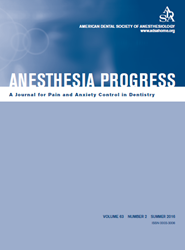 Anethesia Progress 63.2 cover