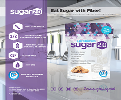 Sugar 2.0 is simply better!  50% cane sugar + 50% fiber = 100% delicious!