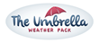 The umbrella weather pack is a light weight water resistant flat vest with a water resistant hood
