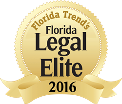 Legal Elite FL, gold Florida Legal Elite badge