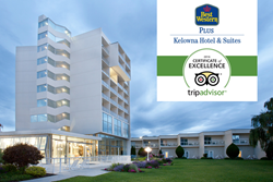 Best Western Plus is one of the few Kelowna hotels to earn a TripAdvisor Certificate of Excellence six years in a row.