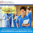 The American College of Lifestyle Medicine Announces Award Recognizing Student Leadership in Lifestyle Medicine—Application Process Opens