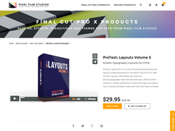 Pixel Film Studios Plugin - ProText Layouts Volume 5 - FCPX