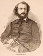 Sam Colt, etching, 1856