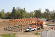 New Energy Works Timberframers constructed the 4,340-square-foot community pavilion with Douglas fir timbers.