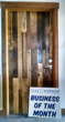 NEWwoodworks, a fine woodworking company in Shortsville, New York, was recently named Business of the Month.