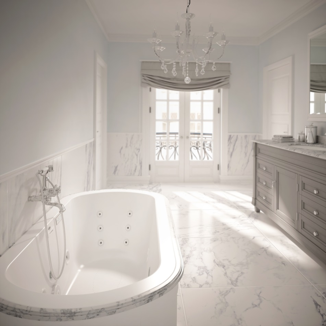 The new duetta bathtub family by jacuzzi luxury bath for Top bathtub brands