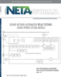 Top Stories on Electrical Testing from NETA World Journal's Summer 2016 Issue Now Available Online for Members and via Subscription