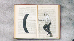 Still from William Kentridge, Tango For Page Turning, 2012–2013