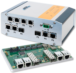 Rugged 10-port Gigabit Switch with 2 SFP+ 10Gbit ports
