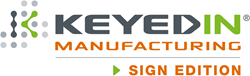 KeyedIn Manufacturing-Sign Edition Software