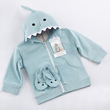 New to the shark collection from Baby Aspen, featuring best selling shark baby bath robe, our shark hoodie is sure to keep baby snuggly warm.