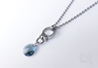 Blue Frost Crystal Pendant from Alyce n Maille