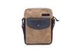 Bolt Crossbody bag—tan waxed canvas with black leather