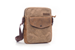 Bolt Crossbody bag—waxed canvas with grizzly-brown leather