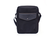 Bolt Crossbody bag—black ballistic nylon with black leather details
