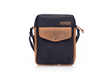 Bolt Crossbody bag—black ballistic nylon with grizzly leather details