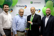 RJ Young President & CEO Accepts the Lexmark South Region Top Dealer Award 2015 from Jeff Dixon of Lexmark.