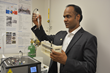 Venkataramana Gadhamshetty, Ph.D., in his laboratory at the South Dakota School of Mines & Technology in Rapid City, SD.