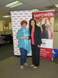 Jerri Rosen, founder and CEO of Working Wardrobes, with Bank of America's Gioia McCarthy