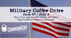 Crimson Cup Annual Military Coffee Drive