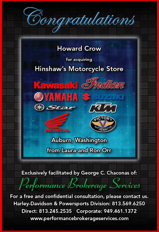 established in 1961, hinshaw's motorcycle store in auburn