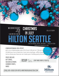 Hilton Seattle Christmas in July