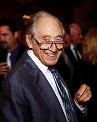 Alvin Toffler, renowned business futurist, in 2010 celebrating the 40th anniversary of his book, Future Shock.