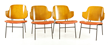 Four Kofod Larsen Penguin Chairs