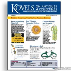kovels, antiques, collectibles, prices, caftans, bicycles, accolay, political, farm advertising
