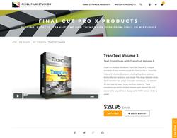 Final Cut Pro X Plugin - TransText Volume 3 - Pixel Film Studios