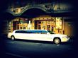 10 Passenger White Wedding Limousine