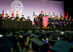 Excelsior College holds its annual Commencement every July in Albany, New York.