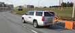 Infrasense, Inc. uses Ground Penetrating Radar to Measure the Pavement Thickness Along a Section of I-395 Near Washington D.C.