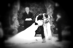 Picture of bride and groom getting married