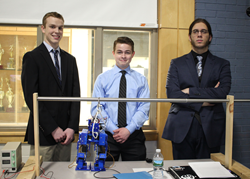 Lexington Christian Academy seniors code, built robots, and program audio