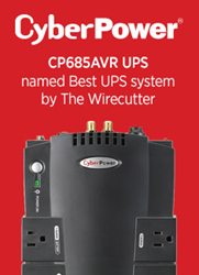 The Wirecutter selects the CP685AVR as best UPS system for home network power protection