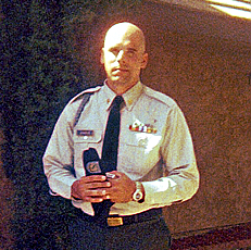 Jennings in uniform before his deployment to Iraq