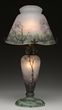 SCARCE DAUM NANCY RAIN SCENE LAMP REALIZED $23,700.