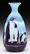 GALLE CAMEO PENGUIN VASE REALIZED $46,689.