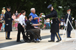 Fraternal Order of Eagles, Ekso Bioics and veteran Austin Reese present wreath at Arlington Cemetery's Tomb of the Unknown Soldier July 4.